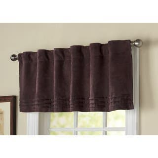 selections pocket windows pd rod valances in style valance lavena polyester for purple shop