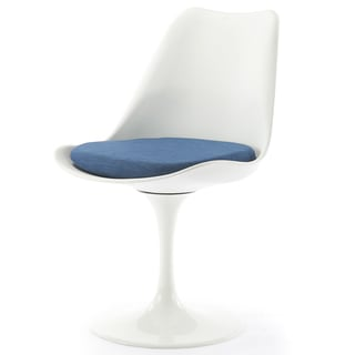 Homage White and Blue Tulip Chair