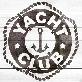 Marmont Hill Art Collective 'Yacht Club' White Wood Art