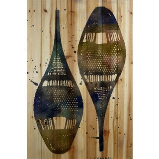 Marmont Hill Art Collective 'Snow Shoes' Natural Pine Wood Art
