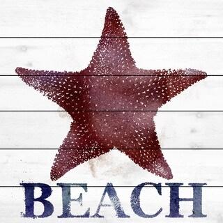 Marmont Hill Art Collective 'Starfish Beach' White Wood Art