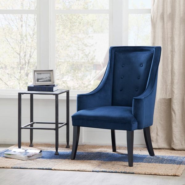Murano Navy Accent Chair Free Shipping Today Overstock