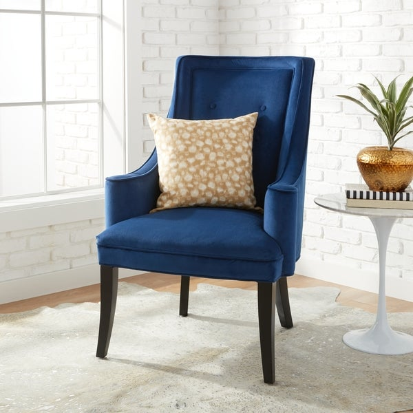 blue accent chairs for living room shop murano navy accent chair free shipping today 24036