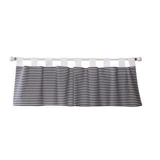 Trend Lab Bedtime Gray Chevron Window Curtain Valance