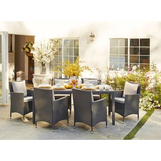 angelo:HOME Napa Estate Grey 7 piece Rectangular Indoor/Outdoor Dining Set