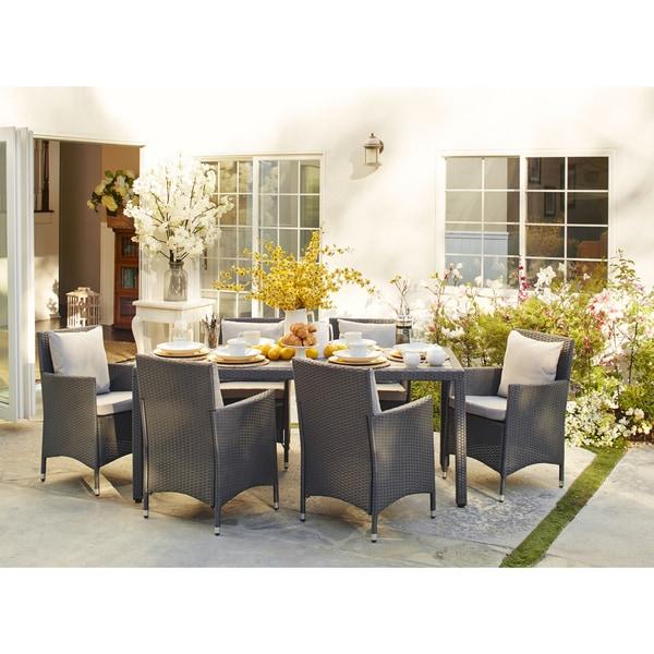 Handy Living Napa Estate Grey 7 Piece Rectangular Indoor Outdoor Dining Set