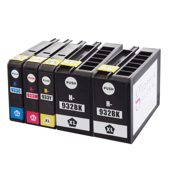Sophia Global Compatible Ink Cartridge Replacement for HP 932XL and 933XL (2 Black, 1 Cyan, 1 Magenta, 1 Yellow)