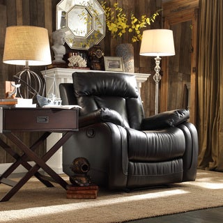Ralston Bonded Leather Reclining Chair by TRIBECCA HOME