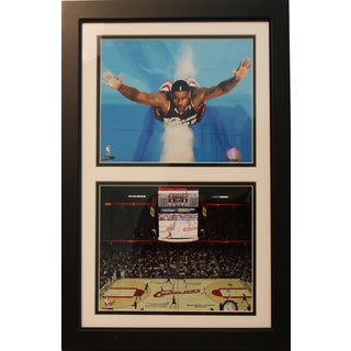 NBA Cleveland Cavaliers LeBron James 12x18 Double Frame