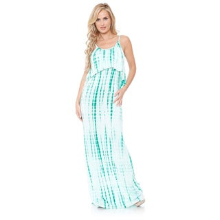 White Mark Women's 'Kalea' Tie-dye Overlay Maxi Dress