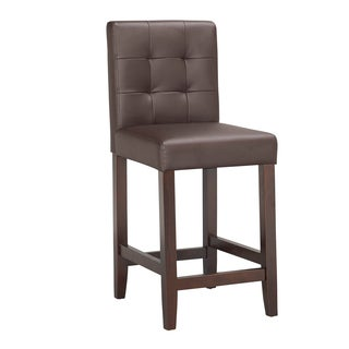 Traditional Faux Leather 31 Quot Bar Stool By Baxton Studio