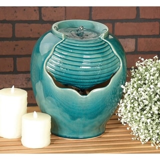 12-inch Outdoor Ceramic Fountain