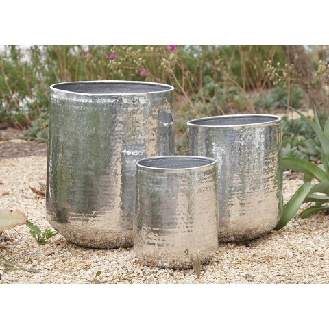 13-inch Aluminum Planter (Set of 3)