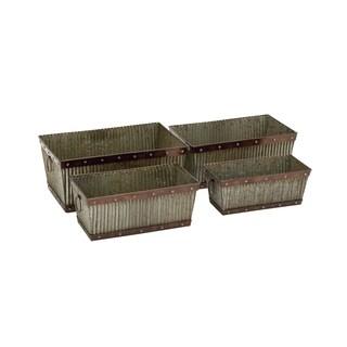 Rectangular Metal Planter (Set of 4)