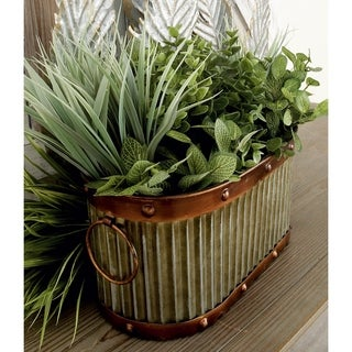 Set of 4 Rustic 12, 13, 16, and 17 Inch Silver Planters by Studio 350