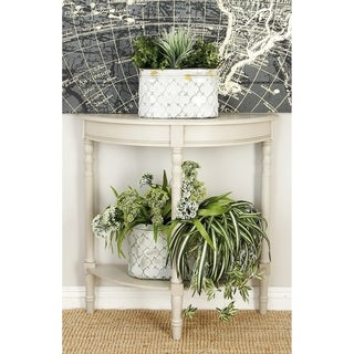Oval Metal Planter with Handles (Set of 3)