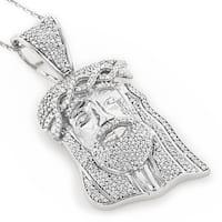 Luxurman 10k Gold 1ct TDW Diamond Diamond Jesus Head Necklace (H-I, SI1-SI2)