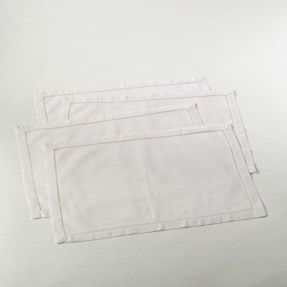 Shop Hemstitched Placemat (Set of 4) - Overstock - 10116358