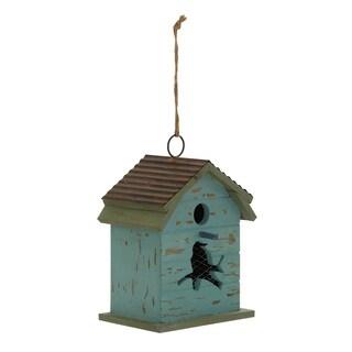 15-inch Wooden Metal Birdhouse