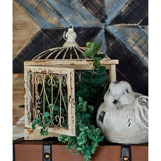 Set of 3 Traditional 15, 19, and 27 Inch Bird Cages by Studio 350