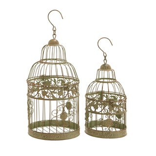 11-inch Round Metal Bird Cages (Set of 2)