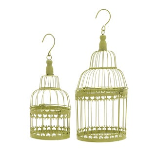 15-inch Round Metal Bird Cage (Set of 2)