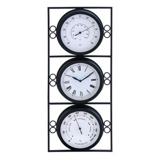 Metal 26-inch Clock Thermometer