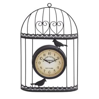 Metal 21-inch Outdoor Birdcage Clock