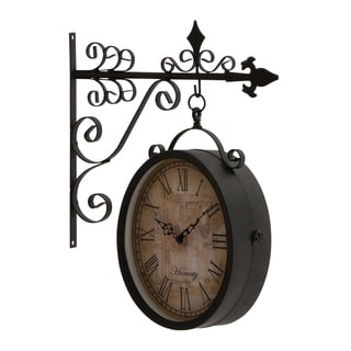 Metal 17-inch Double Side Clock