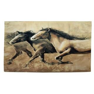 Galloping Horses Rug