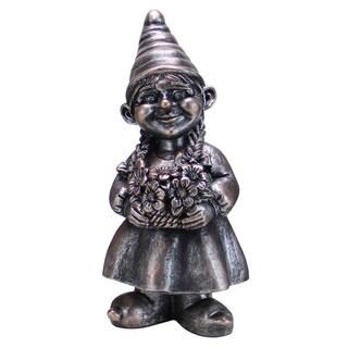13-inch Silver Color Girl Gnome