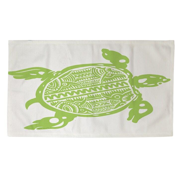 Honu Turtle Green Rug (Thumbprintz Honu Turtle Green - 4'...