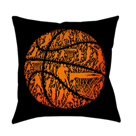 Basketball Sports Silhouettes Indoor/ Outdoor Pillow