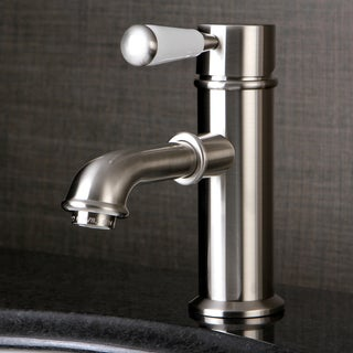 Single-Hole Satin Nickel Bathroom Faucet