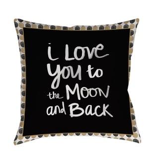 Moon Gold and Black Indoor/ Outdoor Pillow