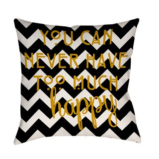 Thumbprintz 'Never Too Much Happy I' Decorative Pillow