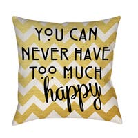 Never Too Much Happy II' Decorative Pillow