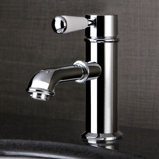 Single-Hole Chrome Bathroom Faucet