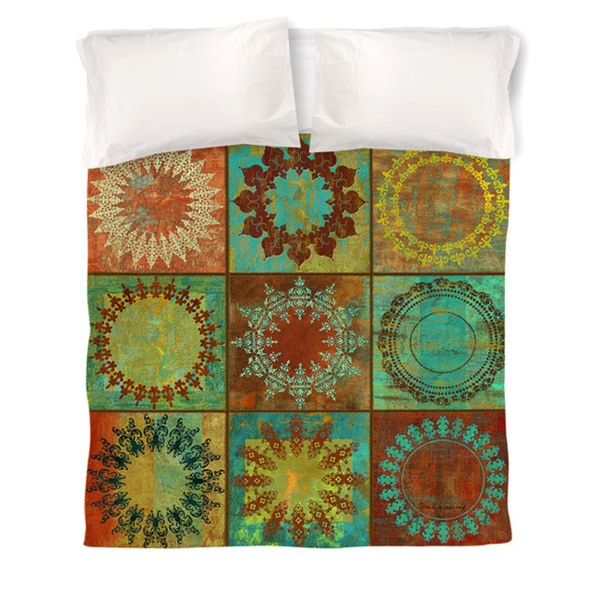 Medallion Grid Duvet Cover