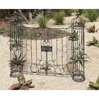 Eclectic 67 Inch Wrought Iron Classic Design Garden Gate by Studio 350