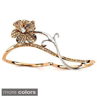 Diamonds for a Cure 18k Gold 1/3ct TDW Diamond Double Finger Floral Design Ring