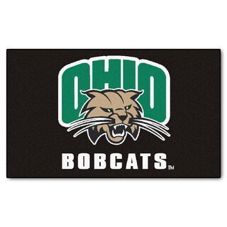 Fanmats Machine-Made Ohio Univeristy Black Nylon Ulti-Mat (5' x 8')