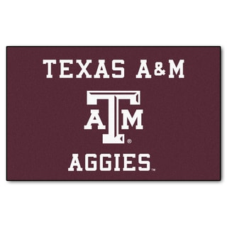 Fanmats Machine-Made Texas A&M University Burgundy Nylon Ulti-Mat (5' x 8')