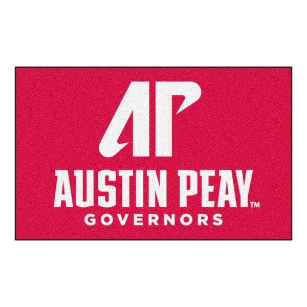 Fanmats Machine-Made Austin Peay State University Red Nylon Ulti-Mat (5' x 8')