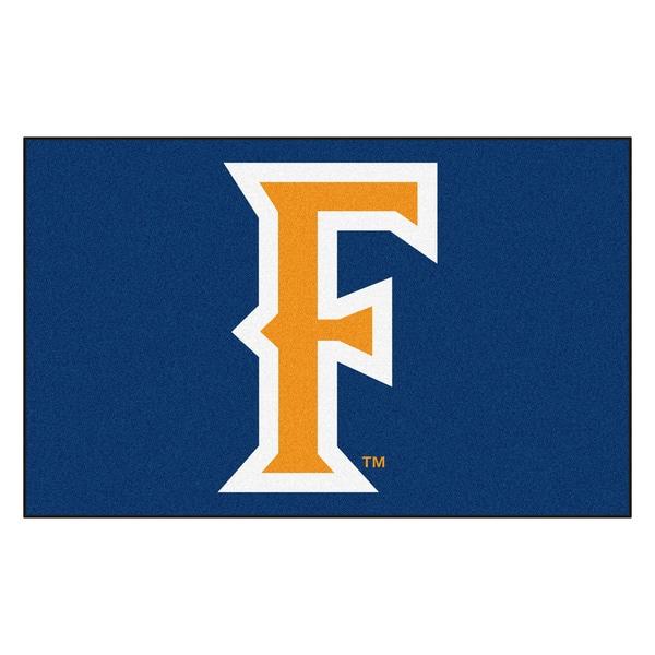 Fanmats Machine-Made Cal State - Fullerton Blue Nylon Ulti-Mat (5' x 8')