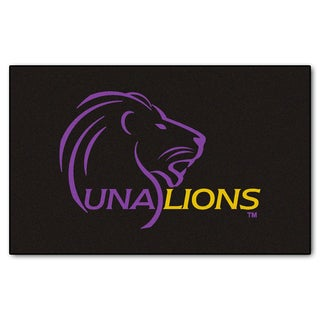 Fanmats Machine-Made University of North Alabama Black Nylon Ulti-Mat (5' x 8')
