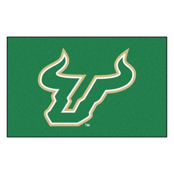 Fanmats Machine-Made University of South Florida Green Nylon Ulti-Mat (5' x 8')