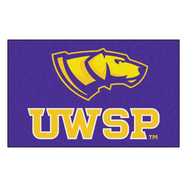 Fanmats Machine-Made University of Wisconsin - Stevens Point Purple Nylon Ulti-Mat (5' x 8')