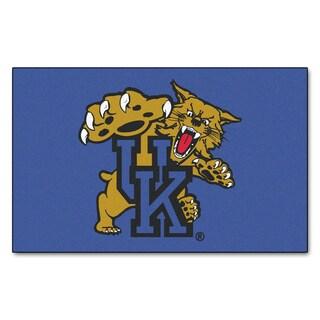 Fanmats Machine-Made University of Kentucky Blue Nylon Ulti-Mat (5' x 8')