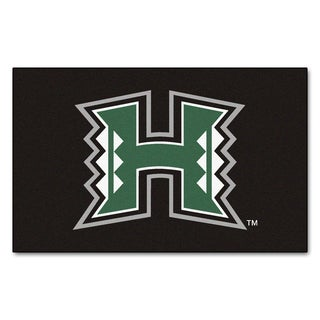 Fanmats Machine-Made University of Hawaii Black Nylon Ulti-Mat (5' x 8')